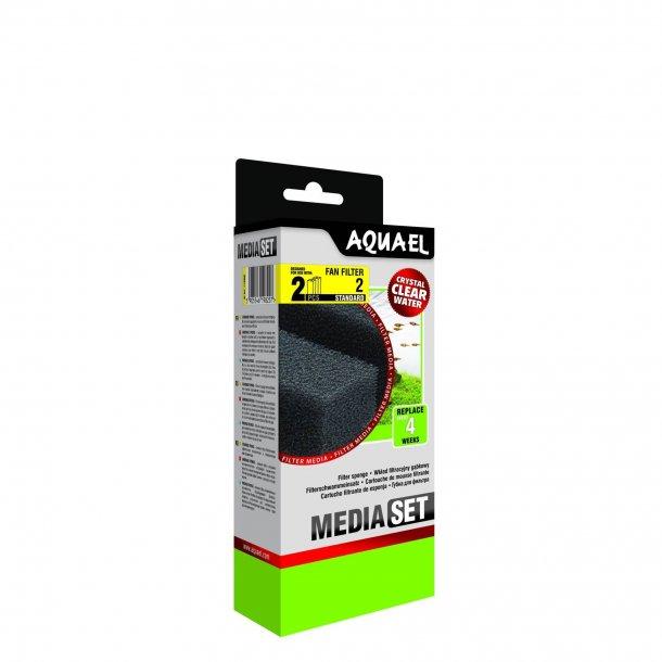 AQUAEL  Fan 2 - Filter svamp - 2stk.