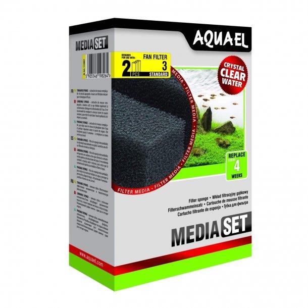 AQUAEL  Fan 3 - Filter svamp - 2stk.