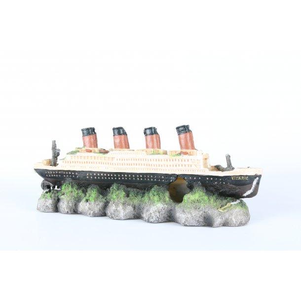 AQUA DELLA - Shipwreck Titanic med luftsten 39x11x14cm