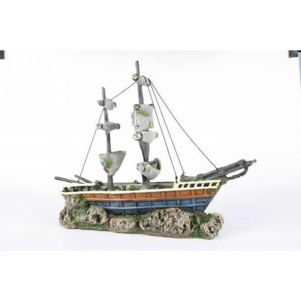 AQUA DELLA - Boat with Sails 38x12,5x31,5cm