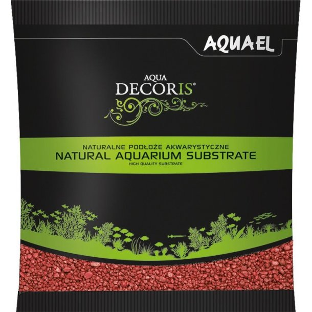 AQUAEL Aqua Decoris Rød - 1kg - Grus