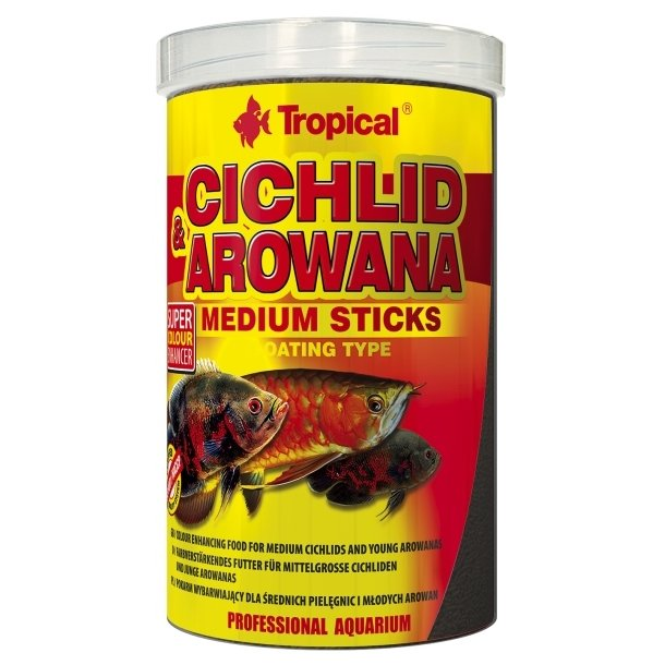 TROPICAL Cichlid Arowana Medium Sticks 1000ml